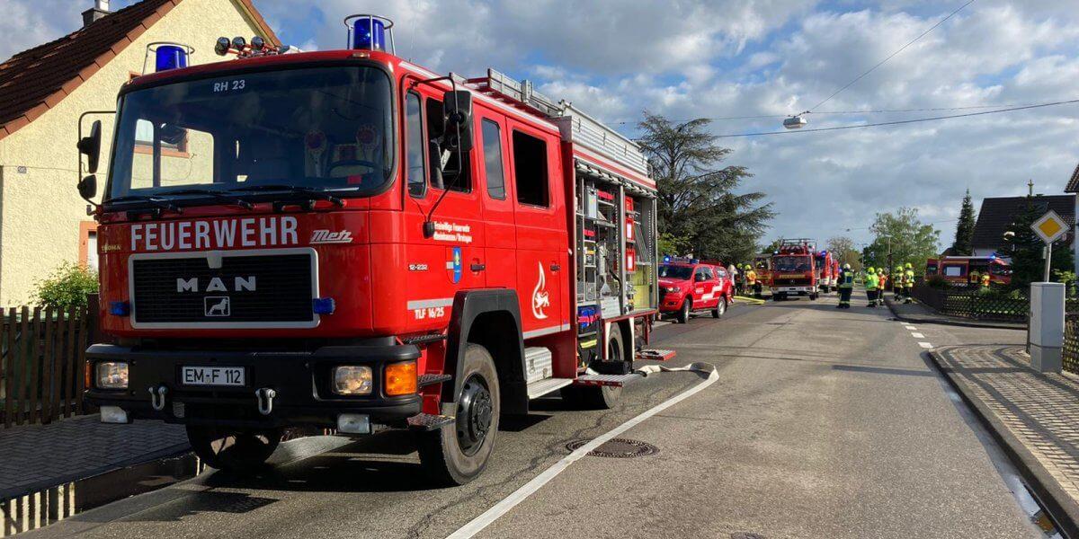 Beitragsbild zu: Einsatz Nr. 22/2021: Kellerbrand, Brand 3 DLK