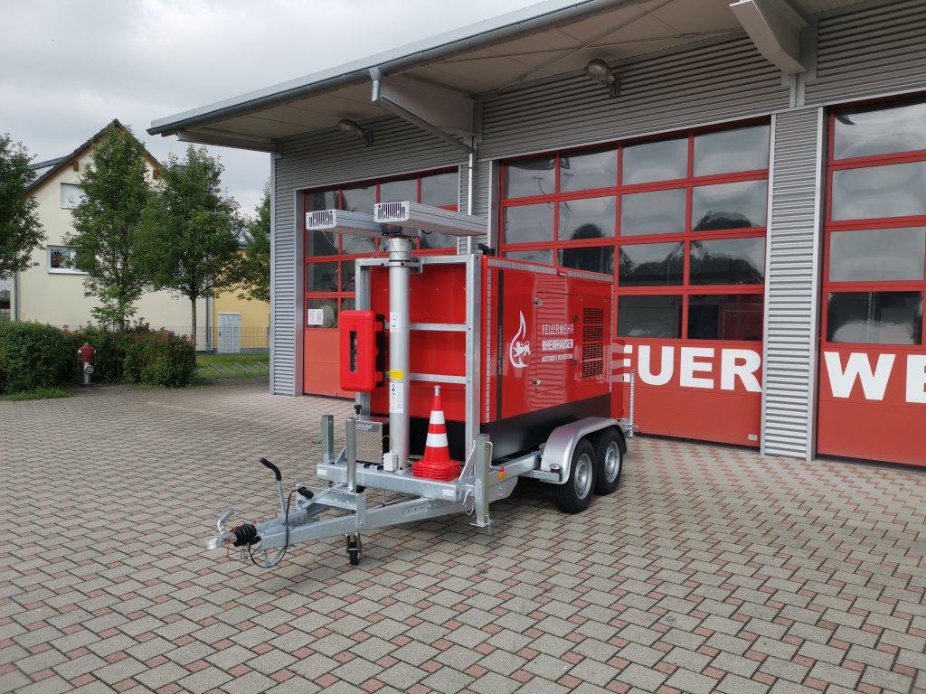 Feuerwehranhänger Netzersatzgerät/Lichtmast